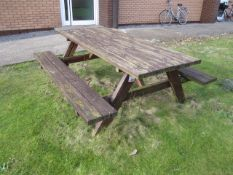 Timber framed picnic bench, 1750 x 750mm table size