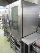 Rational stainless steel ClimaPlus combi shelf cooker centre, model CPC101, serial no. E11CC