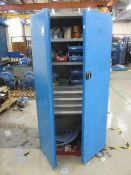 Bott Compact 2 door/4 drawer cabinet with contents including bolts, washers, gaskets, pipe fittings,