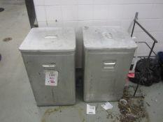 Two Grundy bin storage bins
