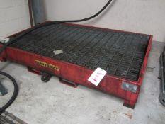 Empteezy SPC steel framed forklift mounting bunded pallet, serial no. 1382-4, 2000 x 1250mm