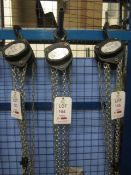 Road Crew 1 tonne chain block and hoist, model VCD, serial no. 61116168 (2016) (Please Note: We do