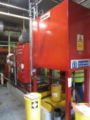 Detroit diesel fire pump engine, model DDFP06FH-23F, serial no. 6RF-015175, engine operating range