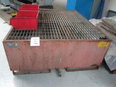 Empteezy steel framed forklift mounting bunded pallet, 1650 x 1400mm