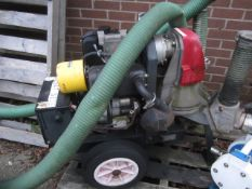 Hilta mobile twin outlet water pump, trailer mounted, serial no. 994, model 90YE (2013)