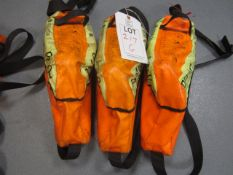 Three Drager PP10 saver emergency escape breathing apparatus
