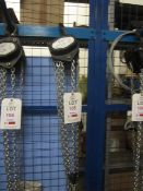 Road Crew 1 tonne chain block and hoist, model VCD, serial no. 61116178 (2016) (Please Note: We do