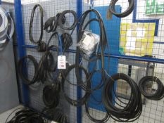 Quantity of assorted V belts, gaskets, etc.