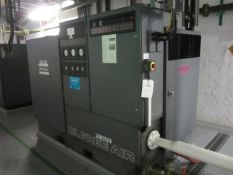 Atlas Copco ZR3 rotary screw air compressor, model ZR 3M ARP, oil free air, s/n: ARP182556/900552.10
