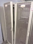 Two Compaq server cabinets (ref. 5/17 & 5/16) and contents to include HP Proliant ML350 GEN9 rack