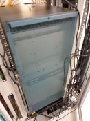 Rittal rack cabinet and contents to include Cisco WS-C6509-V-E and assorted rack switches, etc.