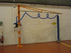 Palamatic Limited system comprising manual jib crane, type Drum lifter Suction, serial no. 16608-
