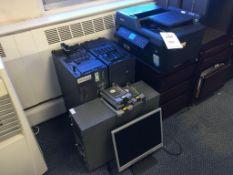 A quantity of redundant computer equipment comprising: 2x Dell PowerEdge 2800 rack servers, 1x