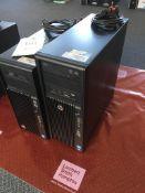 A HP Z220 computer (Windows 7, Intel i7 processor) and a HP Z230 computer (Intel i7 processor)