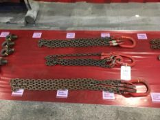 Three sets of lifting chains, LOLER certification: expiring 19/10/2021