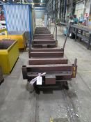 Five truck mounted carts with approx. 100m long 700mm wide track