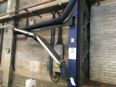 Eighteen Movex fume extraction arms and associated flexible hose ducting