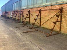 Five steel stock racks