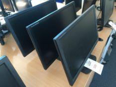 Three iiyana Prolite E2480HS computer monitors