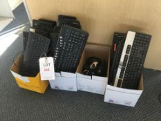 A quantity of keyboard and mouse