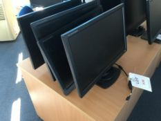 Four iiyana Prolite E2480HS computer monitors (one without stand)