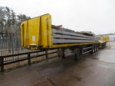 Dennison triaxle trombone extendable trailer, Year: 2016