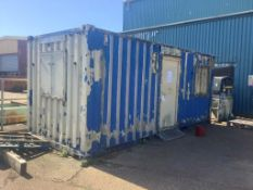 20ft container office. Please note: A Risk Assessment and Method Statement will be required for...