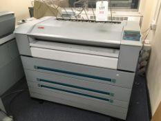 Oce TDS600/9600 wide format printer/scanner system with off line folder