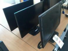 Three iiyana computer monitors (1x Prolite E2480HS, 2x X2481HS)