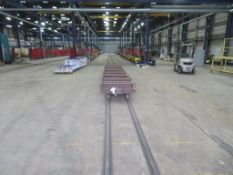 Four truck mounted carts with approx. 100m long 700mm wide track