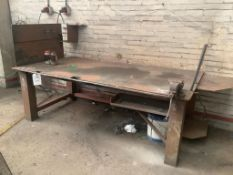 Heavy duty work bench and vice