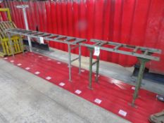Two roller conveyors