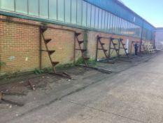Four steel stock racks