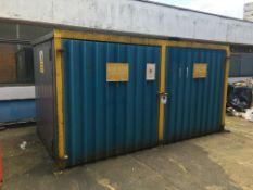 External flammables store approx. 2.2m x 4.1m x 2.1m tall