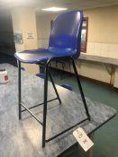 Seventeen canteen chairs