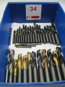 Quantity of solid carbide drills, 6 to 23mm