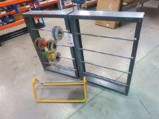 3 x wire storage racks with wire
