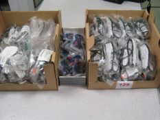 50 x Pairs safety glasses with a box cords