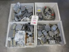 4 x Boxes electrical fittings