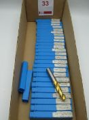 26 x 14mm solid carbide drills, unused