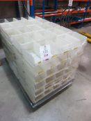 "150 x Plastic storage bins, 6""x 9 1/2"" x 5""high"