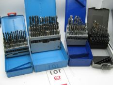 2 x Boxes HSS drills and 2 boxes of taps and drills