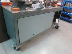 Mobile work bench, 700mm x 1800mm x 870mm High