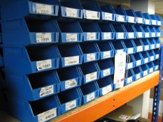 100 x plastic storage bins 10cm x 15cm x 8cm deep