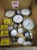 Various pressure gauges
