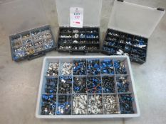 Tray and 3 boxes pneumatic fittings
