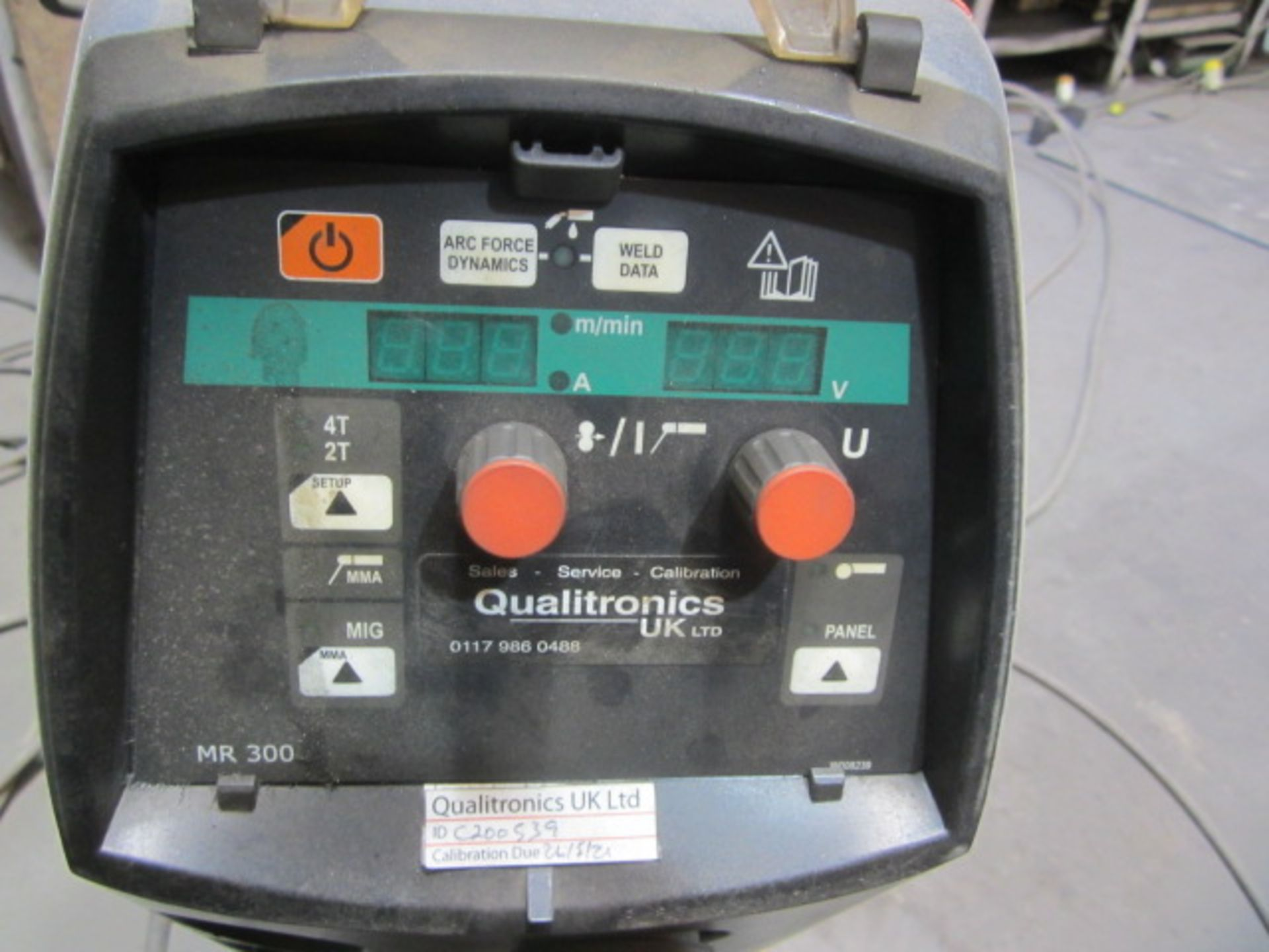 Kemppi Fast Mig M420 mig welder, serial no. 2674175, with Fast Mig MXF65 wire feeder, serial no. - Image 3 of 7
