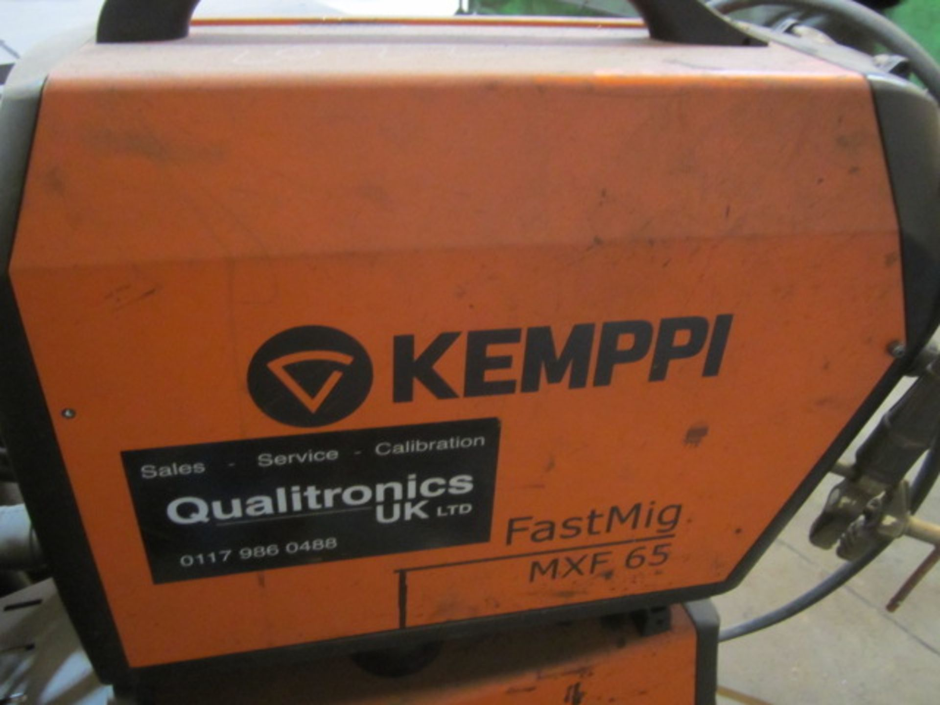 Kemppi Fast Mig M420 mig welder, serial no. 2674278, with Fast Mig MXF65 wire feeder, serial no. - Image 4 of 7