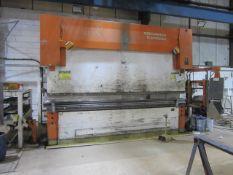 Edward Pearson 300 ton x 4100mm hydraulic downstroking press brake, model RT 300 x 4100, serial