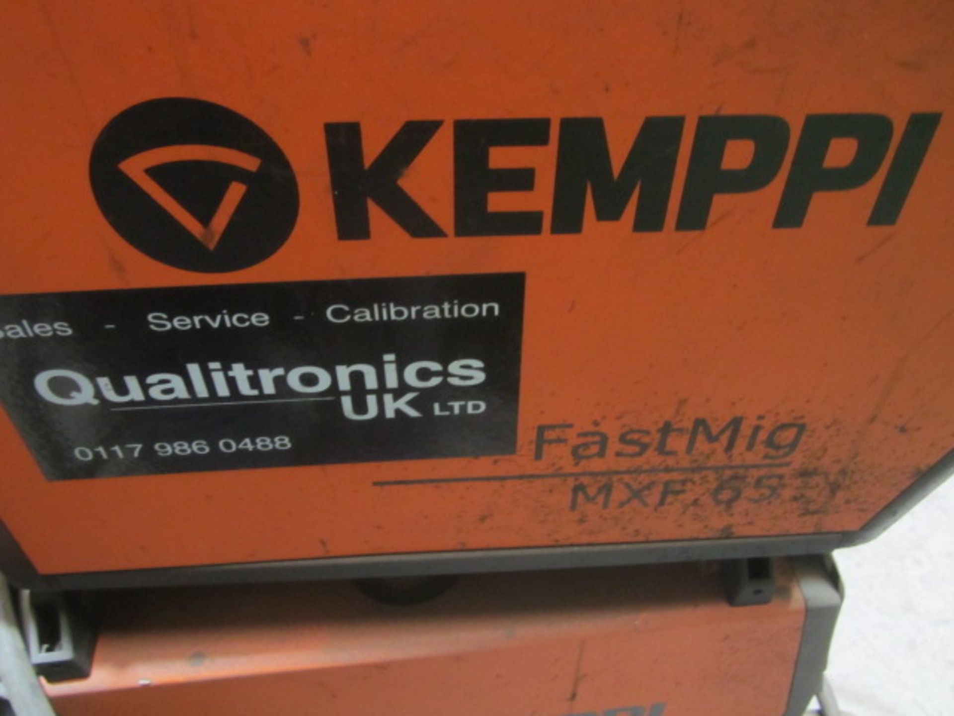Kemppi Fast Mig M420 mig welder, serial no. 2674175, with Fast Mig MXF65 wire feeder, serial no. - Image 4 of 7